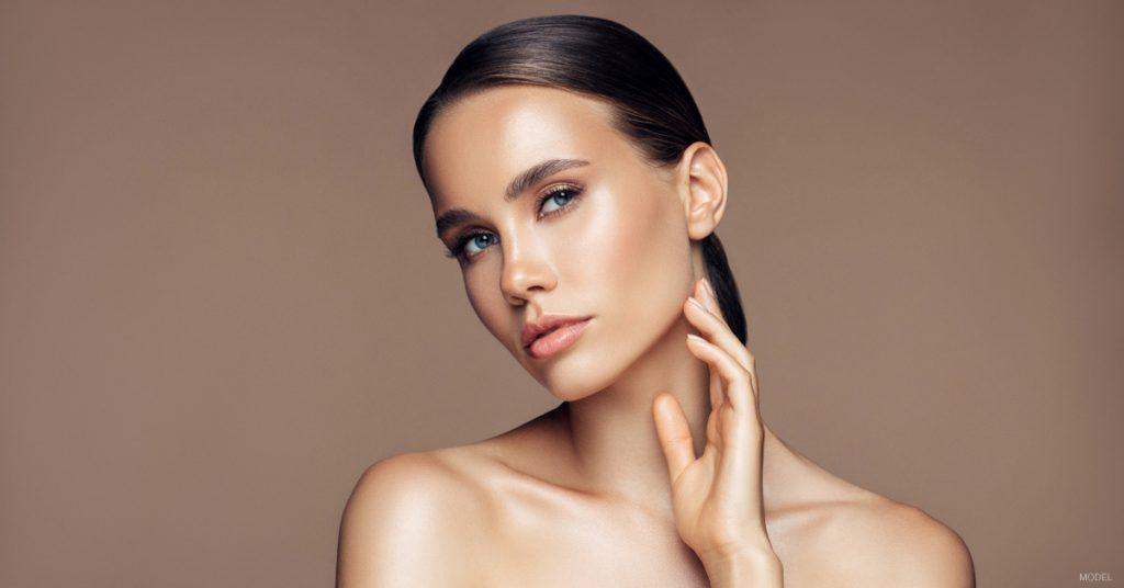 Woman in The Woodlands, TX with smooth, wrinkle-free skin