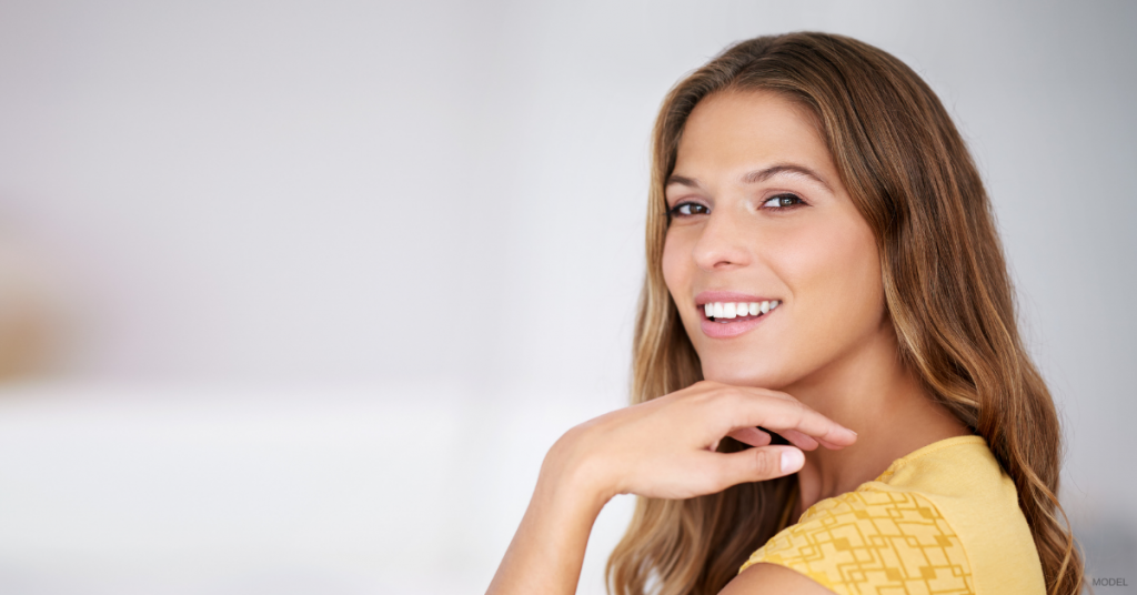 Woman in The Woodlands, TX considering BOTOX to maintain smooth complexion